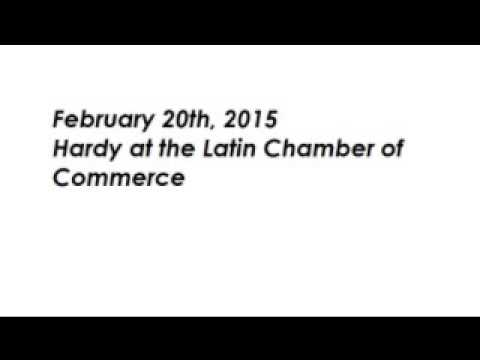150220 Hardy at the Latin Chamber of Commerce