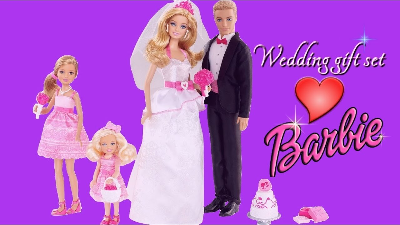 Barbie Wedding Set Barbie and Ken Bride and Groom Dolls ...
