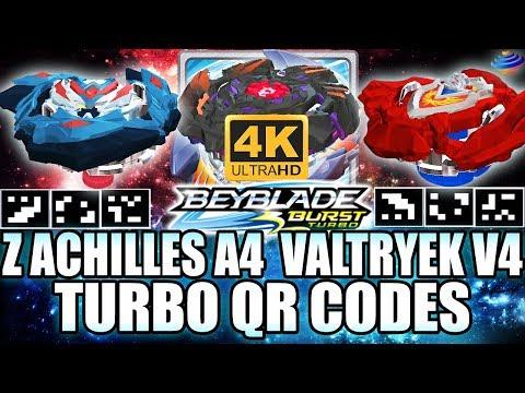 TURBO QR CODES Z ACHILLES A4 VALTRYEK V4 BALKESH B3 EM 4K! BEYBLADE BURST APP TURBO QR CODES
