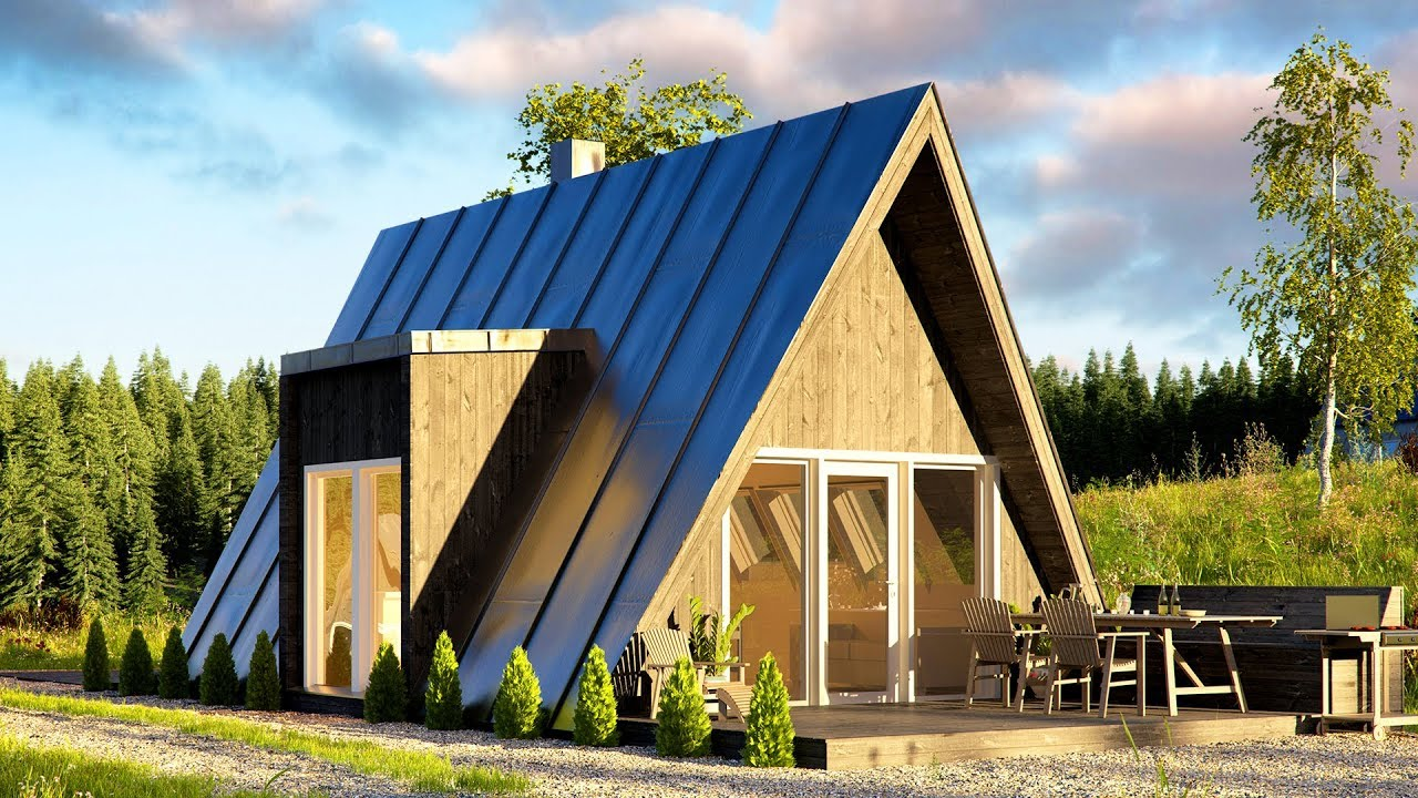Affordable DUO75 A-frame House Can Be Built By Just Two