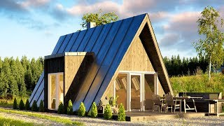 Affordable Duo75 A-frame House Can Be Built By Just Two People @tiny House Big Living