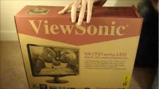 Viewsonic VA1931WMA LED Monitor Unboxing