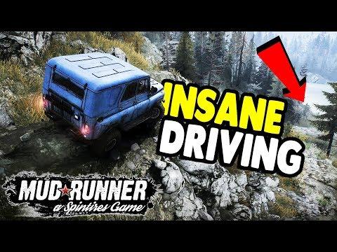 DANGEROUS MOUNTAIN DRIVING | SpinTires: Mudrunner Gameplay