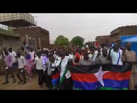 الجبهة الشعبية المتحدة UPF يملؤن شوارع السودان نضالا