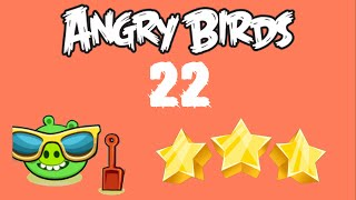 [#22] Angry Birds - Surf and Turf - 2 birds - 3 stars
