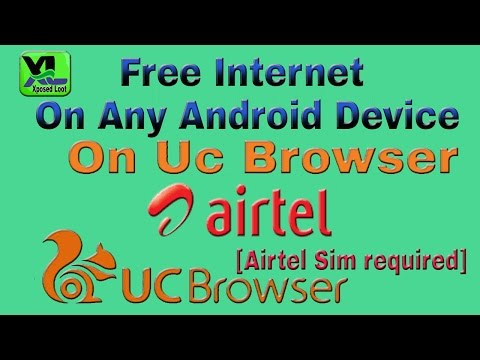 How to Use Lifetime Free Internet in Airtel in UC mini with