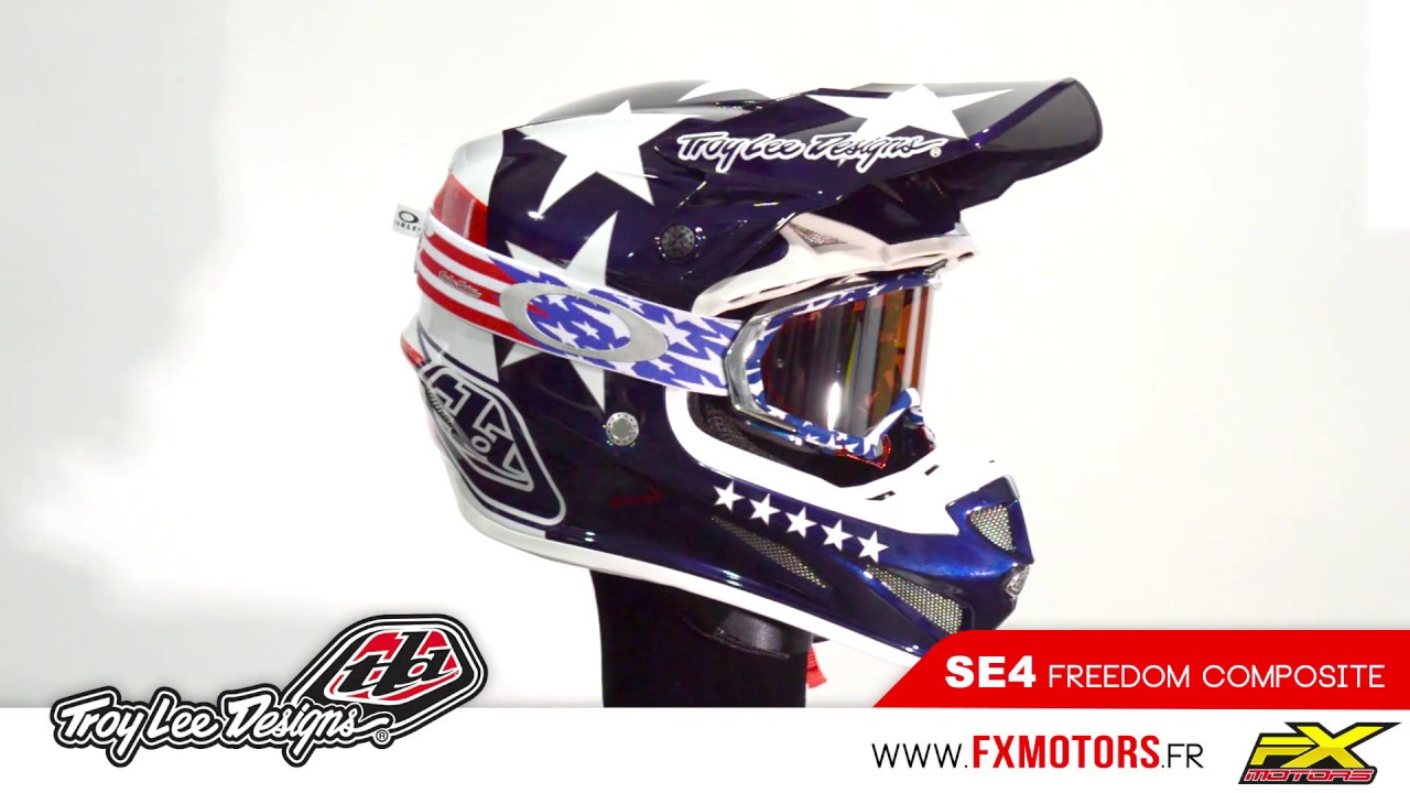 Troy Lee Designs SE4 Composite Freedom - YouTube 26eabb66b6e2