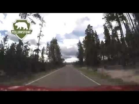 Yellowstone's Firehole Lake Drive to Geysers