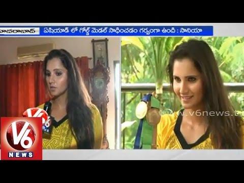 V6 special interview with Telangana Brand Ambassador Sania Mirza