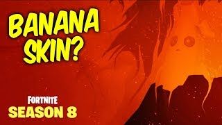 Fortnite season 8 teaser #4 - BANANA SKIN. And full image of all 4 teasers