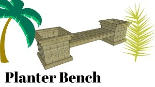 FULL Project at: http://www.howtospecialist.com/garden/free-planter-bench-plans/ SUBSCRIBE for a new DIY video every single