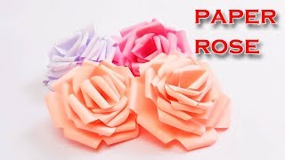 Very Easy and Simple to make Paper Rose | DIY Rolled Paper Flowers
