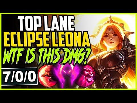 TOP LANE ECLIPSE LEONA SKIN | WTF IS THIS DMG? DARK HARVEST LEONA OP | Leona TOP Season 9 Gameplay