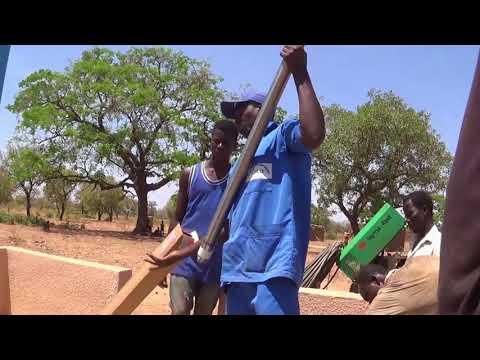 BluePump Handpump installation in a BlueZone in Burkina Faso