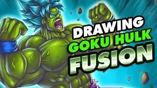 Drawing Goku x Hulk FUSION | Dibujar a Goku Hulk FUSION