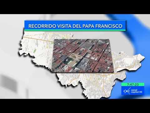 Este será el recorrido y las pardas el papa Francisco por Bogotá