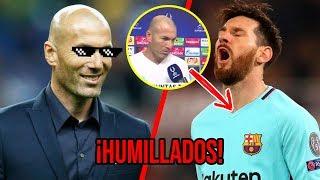 Las PICANTES declaraciones de Zidane contra el Barcelona ¡LOS HUMILLÓ!