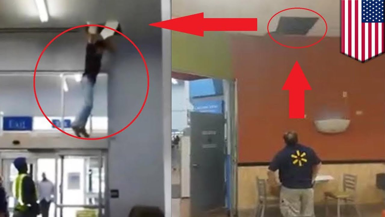 Walmart Spider Man Alabama Shoplifter Jumps Out Of