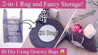 Diy Room Decor With Walmart Bags| What To Do With Excess Grocery Bags