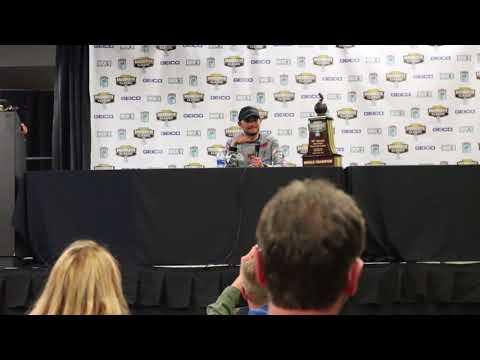Jordan Lee Press Conference  2018 Bassmaster Classic