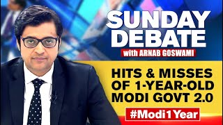 Hits & Misses Of 1-Year-Old Modi Govt 2.0 | Exclusive Sunday Debate With Arnab Goswami