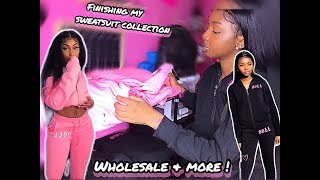 VLOG| FINISHING MY SWEATSUIT COLLECTION, WHOLESALE , $3 PROMO & MORE !