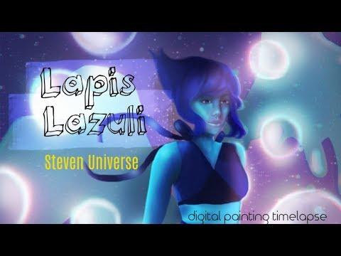 Lapis Lazuli | Steven Universe (digital painting timelapse fan art)