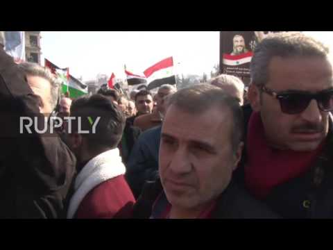 Syria: Militants kill 2, injure dozens as shells strike near Aleppo celebration rally