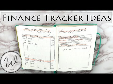 Bullet Journal Finance Tracker Ideas