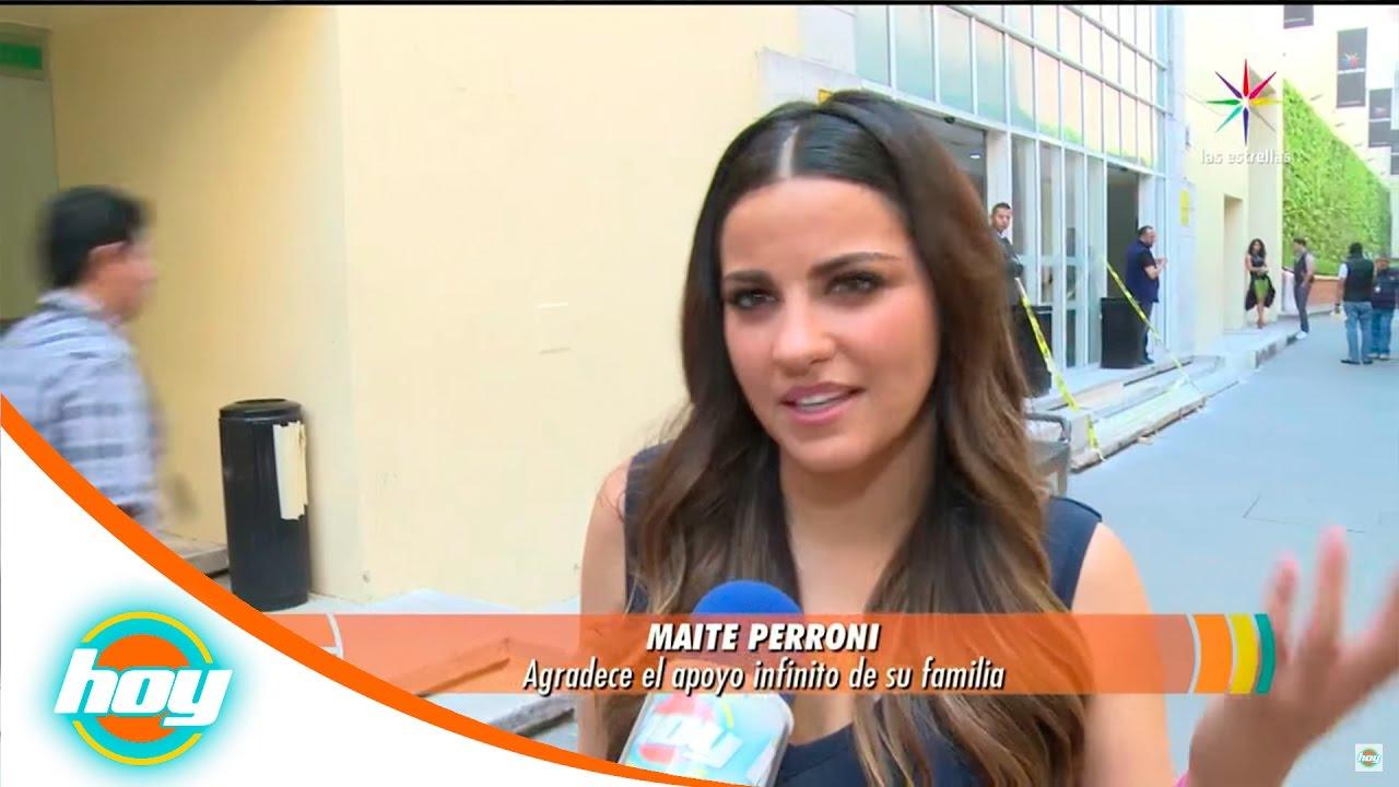 Maite perroni confiesa que perdi el piso calientitas for Los espectaculos de hoy
