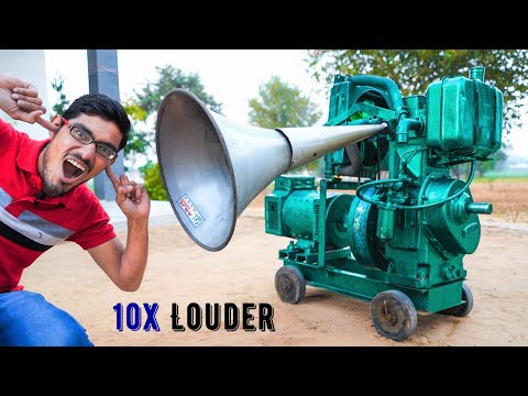 10X Loud Horn In Diesel Engine Silencer | इंजन की आवाज़ को 10 गुणा कर दिया |