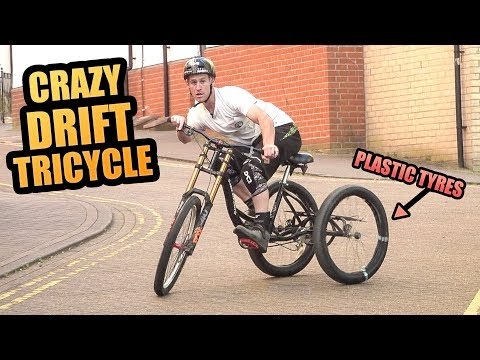 CRAZY DOWNHILL MTB DRIFT TRICYCLE!