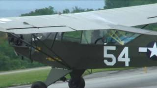 WWII Military Piper Cub, Interstate L-6  in Reading, PA 2009