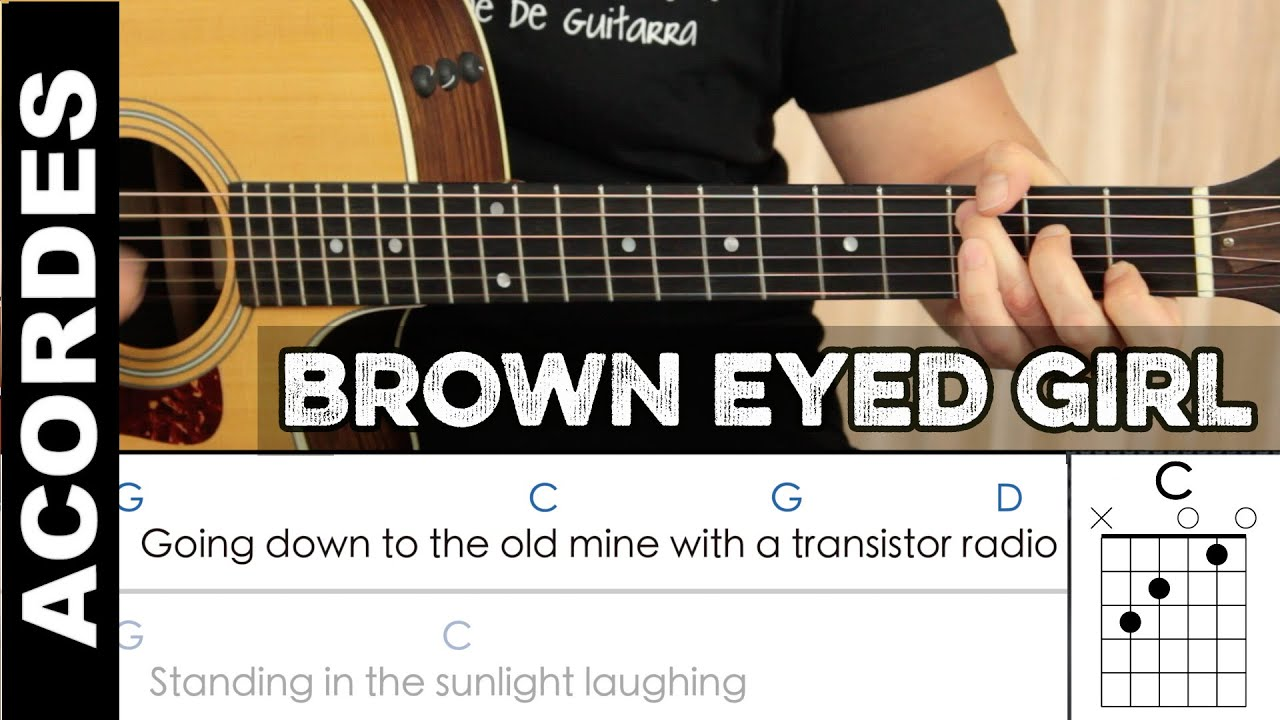Acordes De Brown Eyed Girl En Guitarra Guitar Chords Cover Youtube