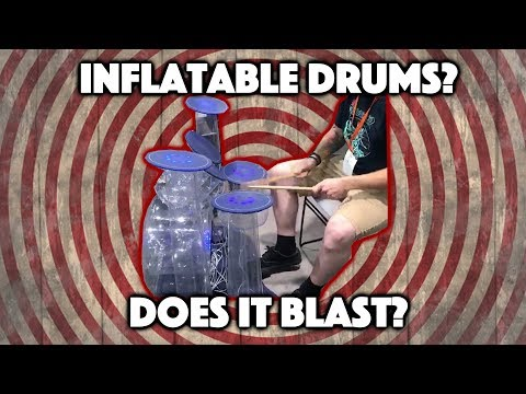 Inflatable Drum set: Does it blast?
