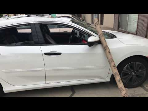 Vinyl Wrap tutorial Car Handle 2017 Honda Civic Hatchback