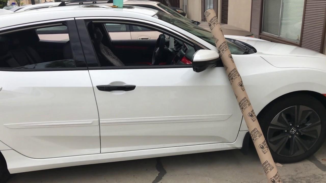 Vinyl Wrap tutorial Car Handle 2017 Honda Civic Hatchback ...