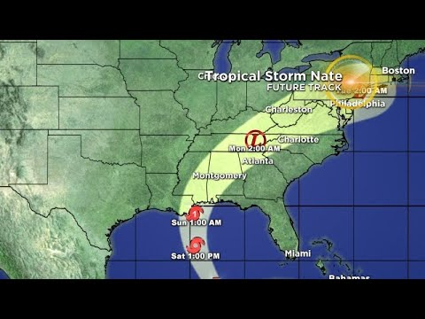 Tracking The Tropics: Tropical Storm Nate 10/6 1 PM