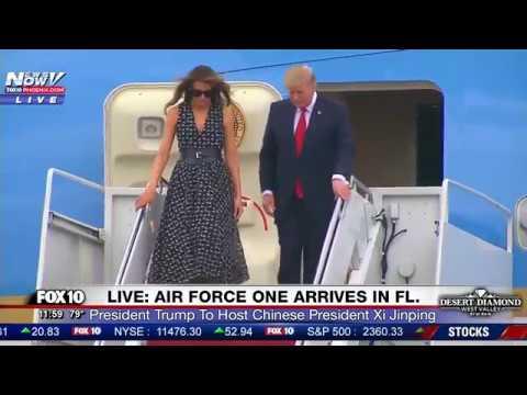 WATCH: President Trump, Melania and Ivanka Trump Arrive In Florida On Air Force One (FNN)