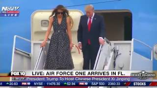 WATCH: President Trump, Melania and Ivanka Trump Arrive In Florida On Air Force One (FNN)