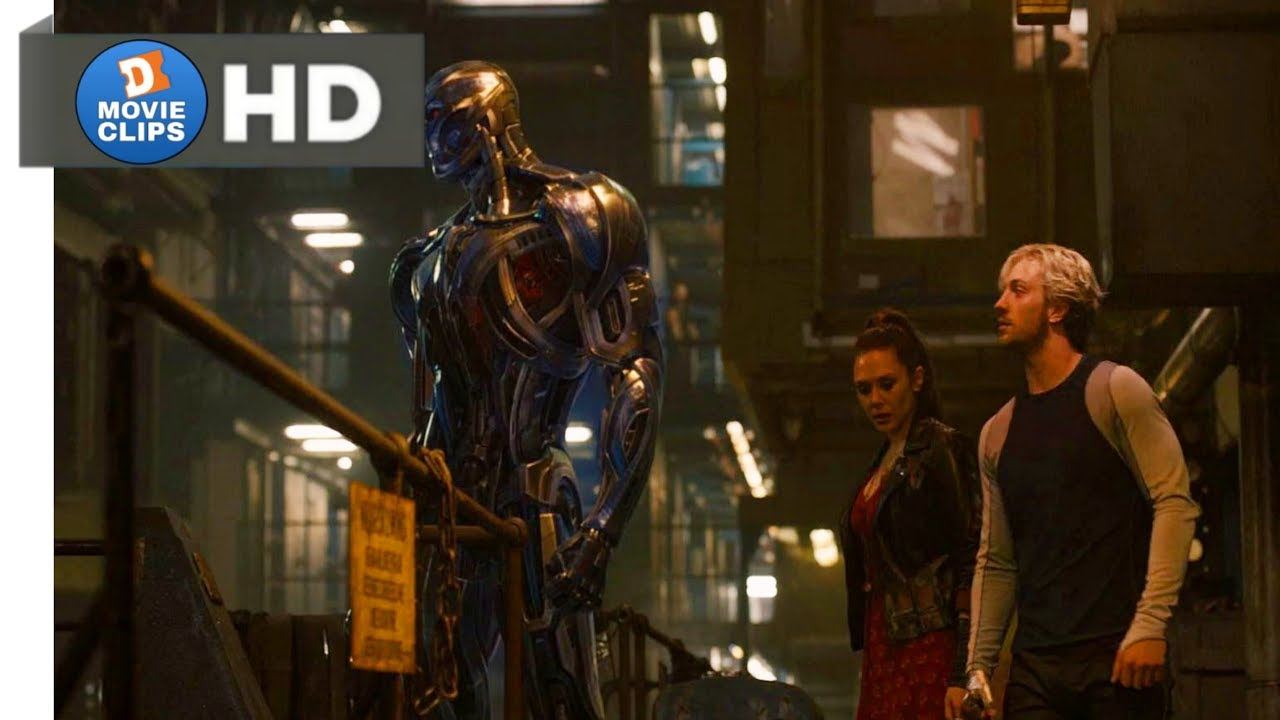 Avengers: Age Of Ultron Hindi (04/12) Ultron Attack Scene MovieClips