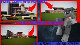 💯3 one command Houses in Minecraft!300 subs!Part 1!