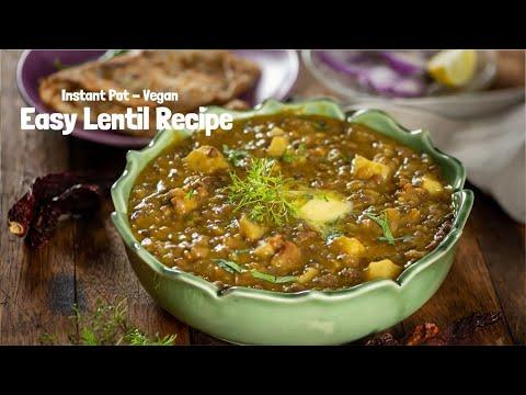 Instant Pot Lentils and potatoes | whole Aloo masoor dal recipe in instant pot