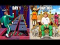 I Survived 100 DAYS In Squid Game.. (GTA 5 Mods)