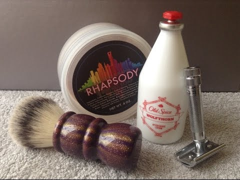 Merkur 37C H/D / Barrister & Mann Rhapsody / IC Carnival Shaving Brush