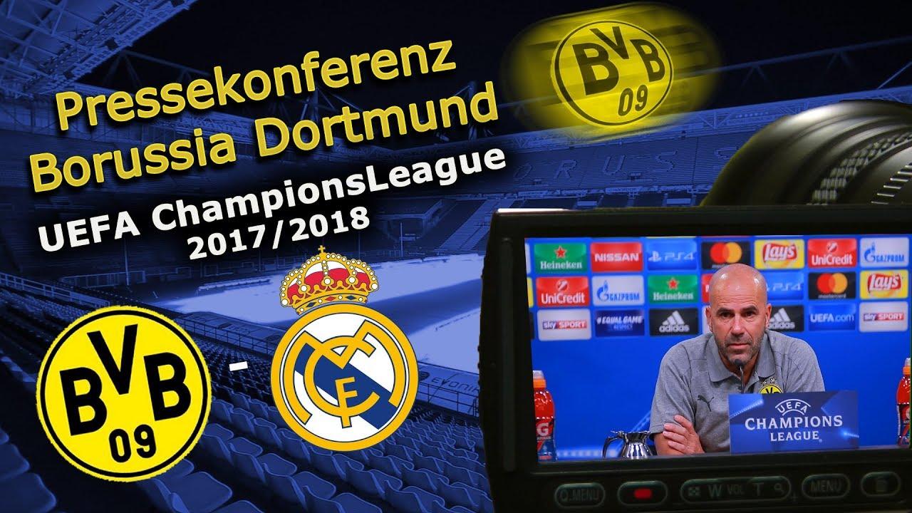 Borussia Dortmund - Real Madrid: Pk mit Peter Bosz und Mario Götze