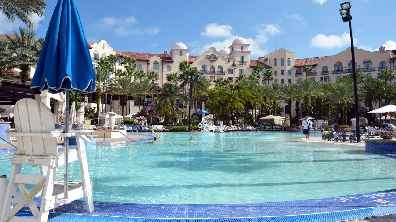 Hard Rock Hotel Universal Orlando Resort - Pool Tour 2015