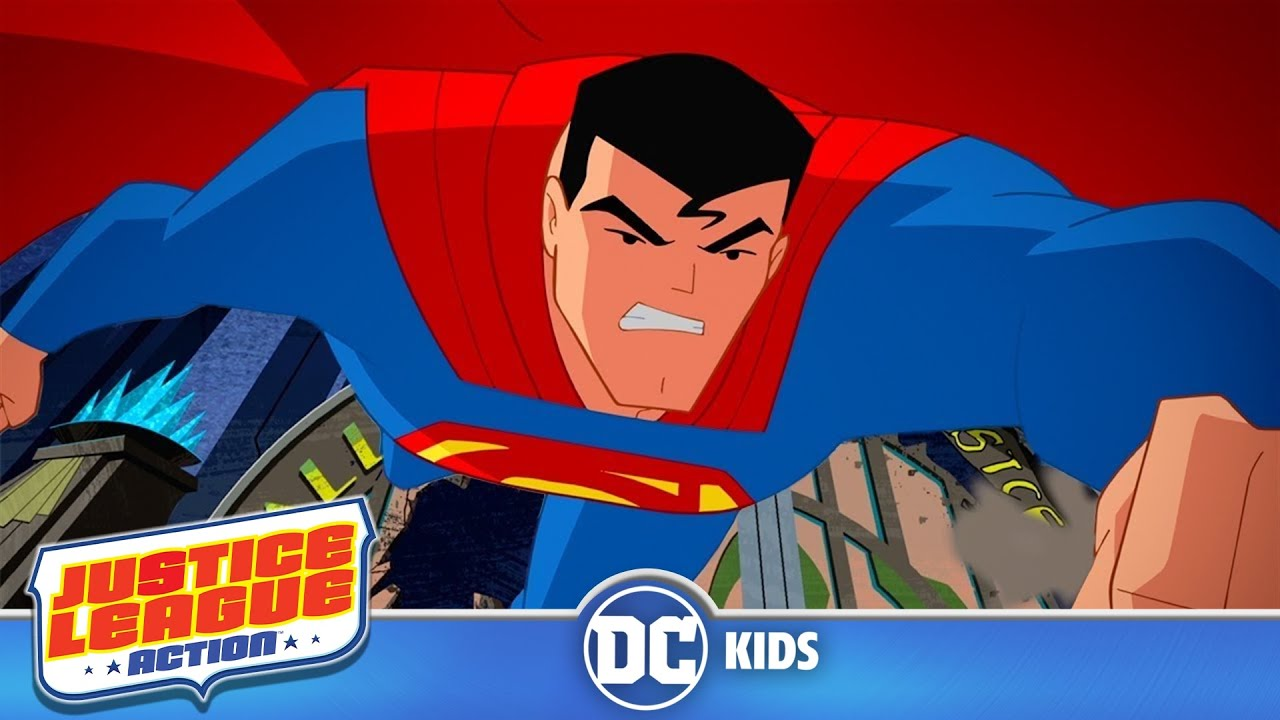 Justice League Action | Superman VS Bat Monster
