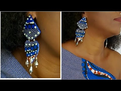 DIY UNIQUE ANKARA EARRING // HANDMADE OUT OF PAPER