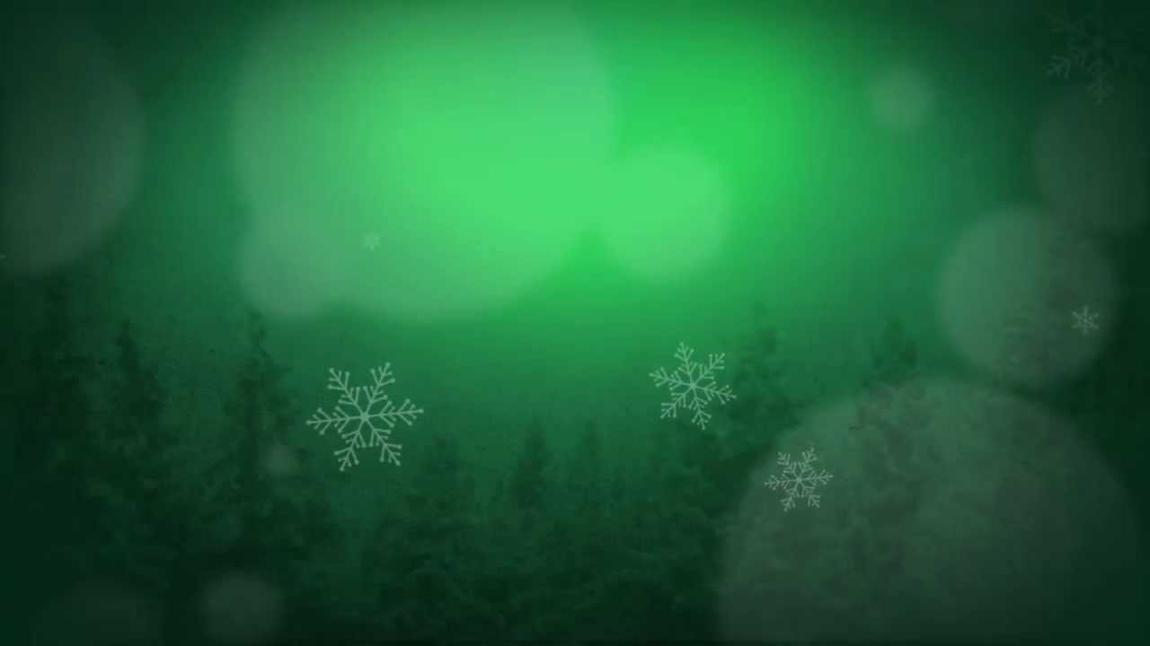 Moving Falling Snow Wallpaper Green Wintery Motion Background For Christmas Christmas